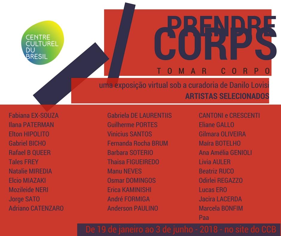 PRENDRE CORPS - TOMAR CORPO - exposition virtuelle - artistes brésiliens contemporains